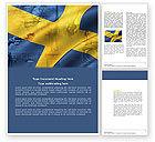 Flags/International: Sweden Word Template #04305