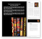 Art & Entertainment: Wind Instrument Word Template #04314