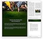 Sports: Rugby Word Template #04352