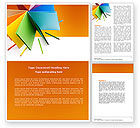 Business: Color Paper Word Template #04355
