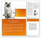 Business Concepts: Cat and Fish Word Template #04357