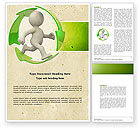 Business Concepts: Recycling Circle Word Template #04362
