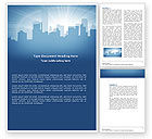Business: City Scenery Word Template #04370
