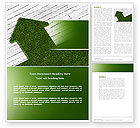 Careers/Industry: Green Lawn Word Template #04385