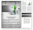 Nature & Environment: Survival Word Template #04395
