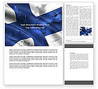Flags/International: Finland Word Template #04427
