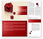Construction: 3D Cubes Building Word Template #04463