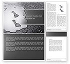 Business Concepts: Foot Prints Word Template #04493