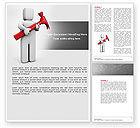 Utilities/Industrial: Hammer Man Word Template #04496