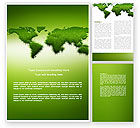 Nature & Environment: Green Grass of World Word Template #04500