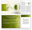 Careers/Industry: Green Socket Word Template #04502