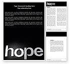Religious/Spiritual: Hope Word Template #04503