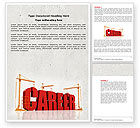 Careers/Industry: Career Building Word Template #04528