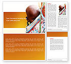 People: African Baby Word Template #04531