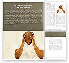 Medical: Modelo do Word - mente pensativa #04554