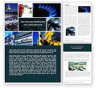Utilities/Industrial: Gas versorgung Word Vorlage #04560