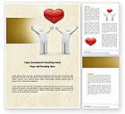Holiday/Special Occasion: True Love Heart Word Template #04565
