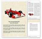 Sports: Formula One Car Word Template #04571