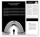 Careers/Industry: Way Out Word Template #04580
