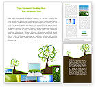 Nature & Environment: Green Solution Word Template #04597