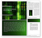 Technology, Science & Computers: Matrix Code Word Template #04604