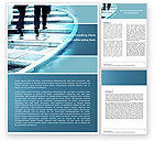 Business Concepts: Pavement Word Template #04606