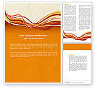 Abstract/Textures: Orange Lines Word Template #04607