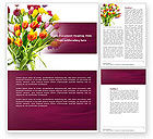 Holiday/Special Occasion: Tulips On A Purple Background Word Template #04614