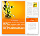 Abstract/Textures: Olives Word Template #04622