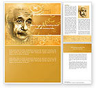 People: Einstein Word Template #04631