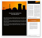 Utilities/Industrial: Nuclear Power Plant Word Template #04632