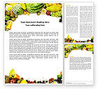 Agriculture and Animals: Fruit Profusion Word Template #04634