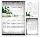 Nature & Environment: Stones and Grass Word Template #04639