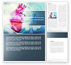 Medical: Artificial Heart Word Template #04644