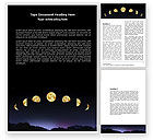 Education & Training: Lunar Phases Word Template #04650