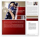 America: American Moslem Word Template #04677
