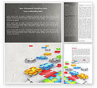 Business Concepts: Puzzle Diversity Word Template #04680