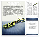 Business Concepts: Access Key Word Template #04689