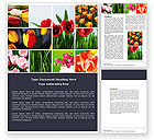 Nature & Environment: Tulips Word Template #04690