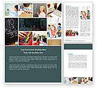 Education & Training: Lesson In Math Word Template #04707