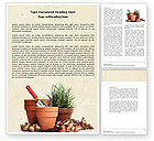 Careers/Industry: Pot Flowers Word Template #04710
