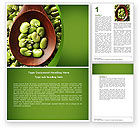 Food & Beverage: Broad Beans Word Template #04711