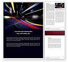 Cars/Transportation: Langzeitbelichtung Word Vorlage #04717