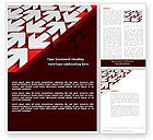 Business Concepts: Contrary Direction Word Template #04719