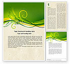 Abstract/Textures: Green Sprouts Word Template #04721