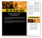 Careers/Industry: Fire Line Word Template #04736