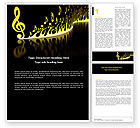 Art & Entertainment: Modern Music Word Template #04739
