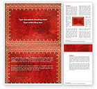 Abstract/Textures: Persian Carpet Word Template #04741