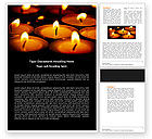 Religious/Spiritual: Religious Service Word Template #04743