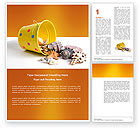 Education & Training: Beach Bucket Word Template #04749
